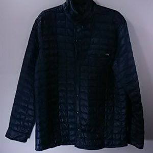 The North Face Navy Quilted Thermo Jacket Size L